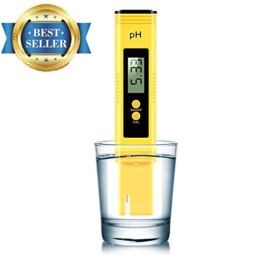 Vminno Digital PH Meter, PH Meter 0.01 PH High Accuracy Water Quality Tester with 0-14 PH Measurement Range for Household Drinking, Pool and Aquarium Water PH Tester Design with ATC … 2019