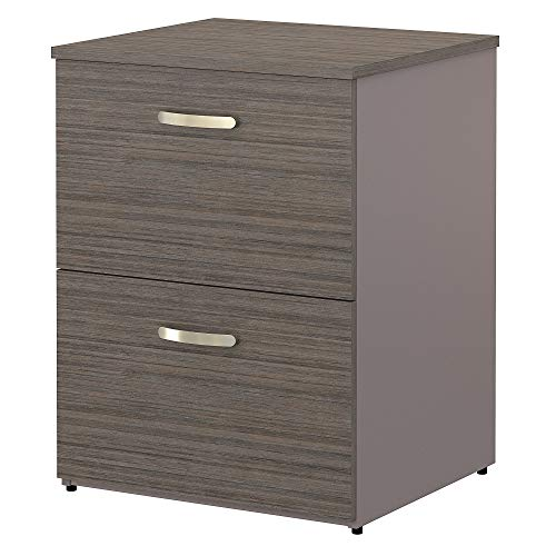 Bush Furniture Commerce Lateral File Cabinet in Cocoa and Pewter
