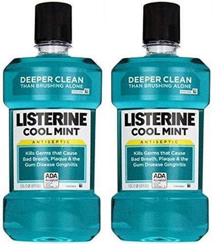 Listerine Antiseptic Mouthwash, Cool Mint - 2 pk - 33.8 oz