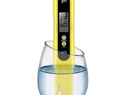 VANTAKOOL Digital, 0.01 High Accuracy Pocket Size Meter/PH 0-14.0 Measuring Range, Quality Tester for Household Drinking Water, Swimming Pools, Aquariums, Yellow