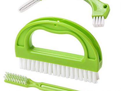 Living&Giving Grout Brush, 3 in 1 Grout Cleaner Brush, Tile Joint Scrub Brush With Handle, Stiff Cleaning Brush for All of the Household Such as Shower,Bathroom, Kitch, Seams, Floor Lines