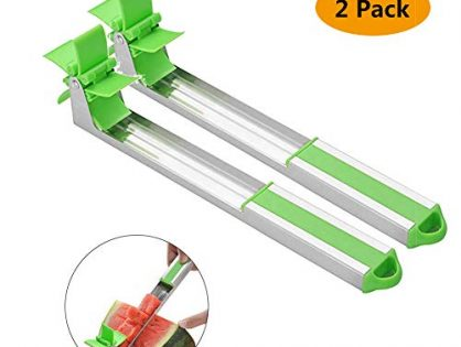 Meethome Watermelon Slicer, 2 pack, GREEN