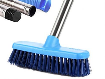 """MEIBEI Floor Scrub Brush with Adjustable Long Handle-47.3"""", Stiff Bristle Grout Brush Tub and Tile Brush for Cleaning Bathroom, Patio, Kitchen, Wall and Deck"""