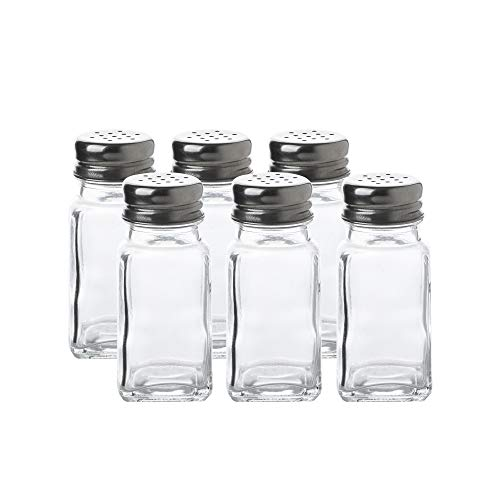 Glass Salt and Pepper Shaker Set-6pcs Pack