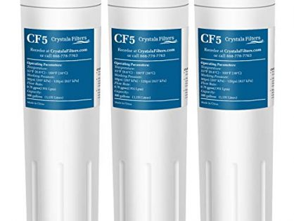 UKF8001 Water Filter, Compatible with Refrigerator Water Filter Whirlpool 4396395, Filter 4, Maytag UKF8001, EDR4RXD1, UKF8001AXX, UKF8001P, Puriclean II, 469006, by Crystala Filters 3 Pack