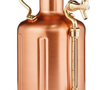 uKeg 128 oz Pressurized Growler for Craft Beer - Copper