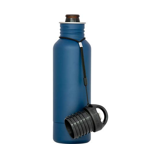 BottleKeeper - The Original Stainless Steel Bottle Holder and Insulator to Keep Your Beer Colder Blue - The Standard 2.0