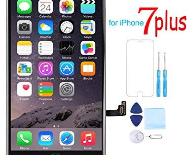 Screen Replacement for iPhone 7 Plus 5.5 LCD 3D Touch Screen Digitizer Display with Free Repair Tool Kits + Free Screen Protector Black
