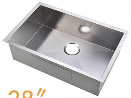 Commercial 28 Inch 16 Gauge Undermount Single Bowl Stainless Steel Kitchen Sinks