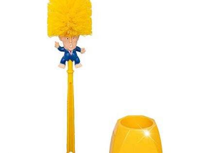 ATROPOS Donald Trump Toilet Brush-Plastic Original Toilet Brush for Toilet Cleaning with Holders