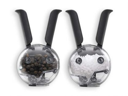 Chef'n Mini Magnetic PepperBall and SaltBall Set Black