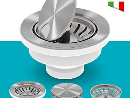 KRAUS VersiDrain Assembly With Strainer Basket, FlipCap and Water Stopper, Stainless