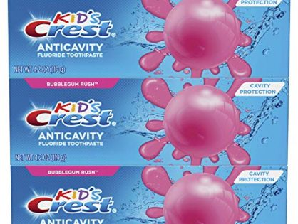 Crest Kid's Cavity Protection Fluoride Toothpaste, Bubblegum Rush, 3 Count
