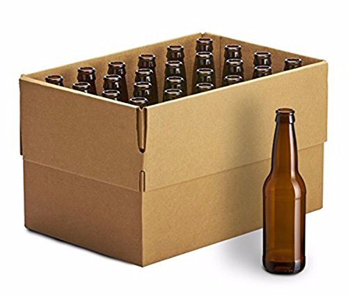 set of 2 - Monster Brew Home Brewing Supplies 24 Pack Amber Long Neck Bottles, 12oz