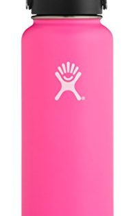Hydro Flask 40 oz Water Bottle   Stainless Steel & Vacuum Insulated   Wide Mouth with Leak Proof Flex Cap   Flamingo