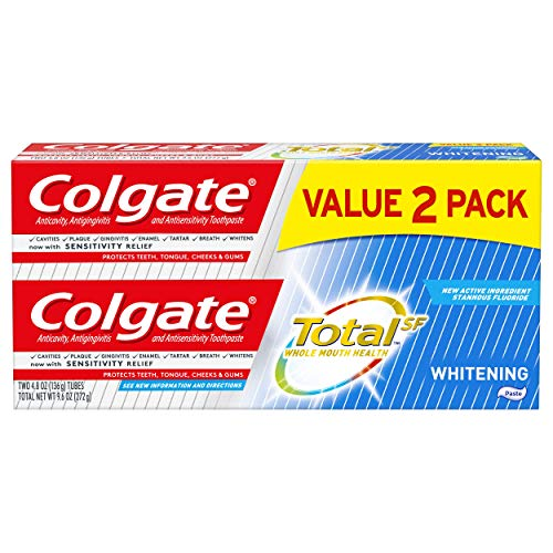 Colgate Total Whitening Toothpaste, 4.8 ounce - 2 pack