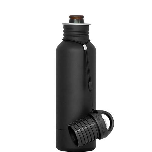 BottleKeeper - The Standard 2.0 - The Original Stainless Steel Bottle Holder and Insulator to Keep Your Beer Colder Black