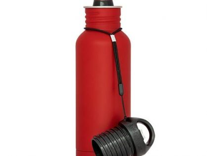 BottleKeeper - The Standard 2.0 - The Original Stainless Steel Bottle Holder and Insulator to Keep Your Beer Colder Red