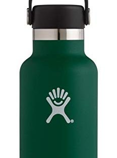 Hydro Flask 12 oz Water Bottle   Stainless Steel & Vacuum Insulated   Standard Mouth with Leak Proof Flex Cap   Sage