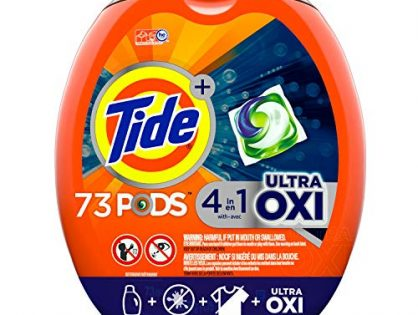 Packaging May Vary - Tide Pods Ultra Oxi Liquid Laundry Detergent Pacs, 73 Count