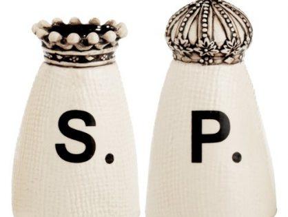 RAE DUNN Crown Salt + Pepper Shakers