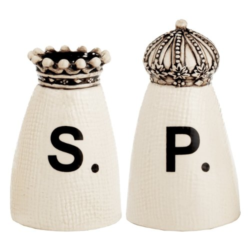 RAE DUNN Crown Salt + Pepper Shakers