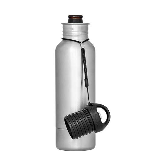 The Original Stainless Steel Bottle Holder and Insulator to Keep Your Beer Colder Stainless - The Standard 2.0 - BottleKeeper