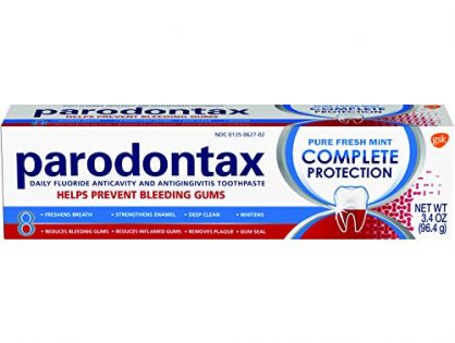 Parodontax Complete Protection Toothpaste For Bleeding Gums, Pure Fresh Mint, 3.4 Ounce