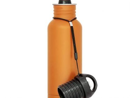 BottleKeeper - The Original Stainless Steel Bottle Holder and Insulator to Keep Your Beer Colder Orange - The Standard 2.0
