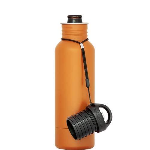 BottleKeeper - The Original Stainless Steel Bottle Holder and Insulator to Keep Your Beer Colder Orange - The Standard 2.0