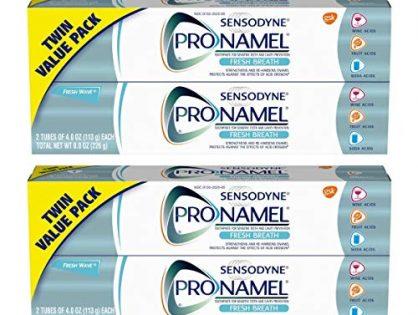 SENSODYNE PRONAMEL Toothpaste for Tooth Enamel Strengthening, Fresh Breath, 4 Ounce Twin Pack Basic.2 PackTwin Pack