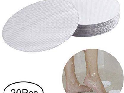 XWJJ Safety Shower Treads Anti-Slip, 20 Pieces Safety Walk Self Adhesive Non-Slip Bathtub Stickers for Tubs Bath, 4 inch Clear