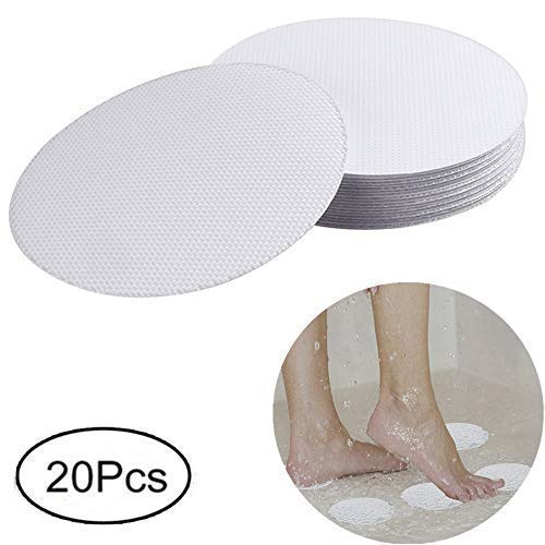 XWJJ Safety Shower Treads Anti-Slip, 20 Pieces Safety Walk Self Adhesive Non-Slip Bathtub Stickers for Tubs Bath, 4 inch Clear