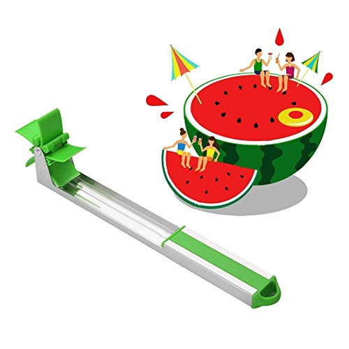 Watermelon Windmill Cutter Stainless Steel Watermelon Slicer Fruit Tools Kitchen Gadgets FDA Approved & BPA Free