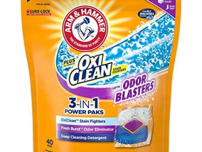 Arm & Hammer Plus Oxiclean with Odor Blasters Laundry Detergent 3-in-1 Power Paks, 40 Count