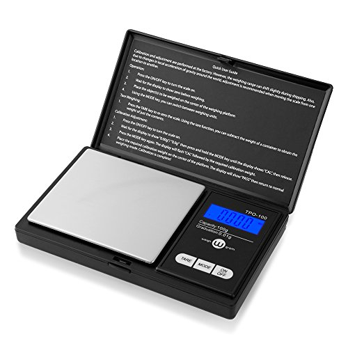 Weigh Gram Scale Digital Pocket Scale,100g by 0.01g,Digital Grams Scale, Food Scale, Jewelry Scale Black, Kitchen Scale TOP-100