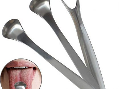 Tongue Cleaner Coating Remove Tongue Dirt Scraping Tongue Safety Stainless Steel Scraper Cleaning Brush Oral Care Tool