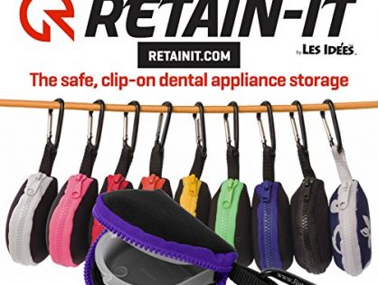 Retain-it - The Safe, Clip-on, Retainer, Mouth Guard and Dental Appliance Storage Solution! Purple
