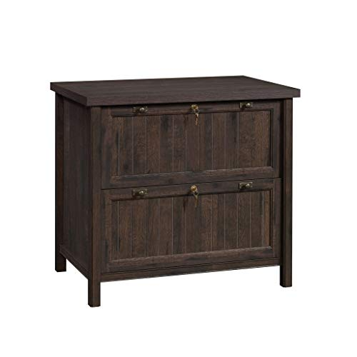 "Sauder 422975 Costa Lateral File, L: 33.39"" x W: 21.89"" x H: 30.00"", Coffee Oak Finish"