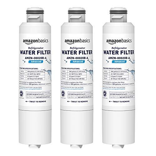 Pack of 3, Advanced Filtration - AmazonBasics Replacement Samsung DA29-00020B Refrigerator Water Filter Cartridge
