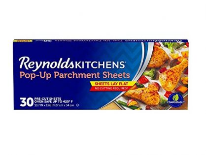 10.7x13.6 Inch, 30 Sheets - Reynolds Kitchens Pop-Up Parchment Paper Sheets