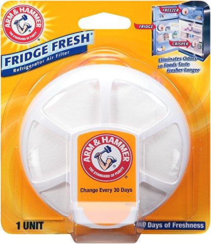 Arm & Hammer 33200-01710 Baking Soda Fridge Fresh Air Filter, 0.28 oz Pack of 8