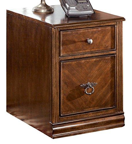 1 Drawer/1 File Drawer - Hamlyn File Cabinet - Medium Brown Finish - Ashley Furniture Signature Design - Traditional