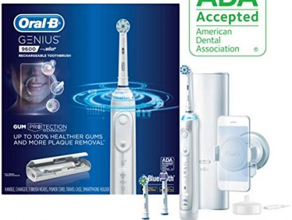 Oral-b 9600 Electric Toothbrush, 3 Brush Heads, Powered By Braun, White