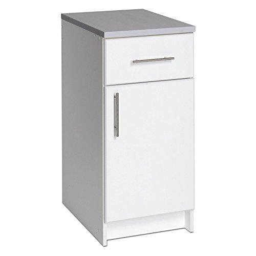 Prepac Elite 16 in. Single Door Utility Storage Base Cabinet - 36H in. White
