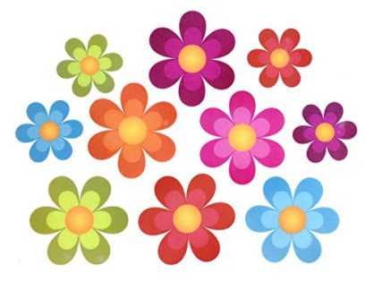 Pack of 20,Non Slip Bathtub Stickers,Adhesive Decals With Bright Colors,Ideal Large Appliques For Your family's Safety,Suit for Bath Tub,Stairs,Shower Room & Other Slippery Surfaces.Bright Flowers