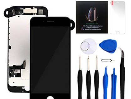 """for iPhone 7 Plus Screen Replacement Kit Black 5.5"""" LCD Display iPhone 7 Plus Replacement Touch Screen Digitizer Full Assembly with Front Camera+ Earpiece+ Repair Tools Kit+ Screen Protector Black"""