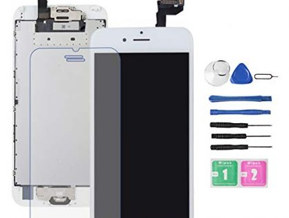Screen Replacement for iPhone 6S White with Home Button and Camera, Drscreen 3D Touch Screen Digitizer Replacement for A1633, A1688, A1700,with Proximity Sensor Ear Speaker,Tempered Glass Repair Tools