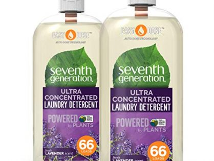 Seventh Generation Laundry Detergent, Ultra Concentrated EasyDose, Fresh Lavender, 23 Ounce, 2 Pack 132 Loads