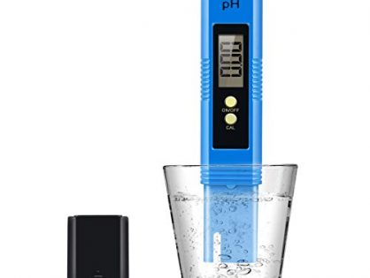 Yeslike Digital PH Meter, PH Meter 0.01 PH High Accuracy Water Quality Tester with 0-14 PH Measurement Range for Household Drinking, Pool and Aquarium Water PH Tester Design with ATC